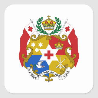 Tonga Coat of Arms Square Sticker