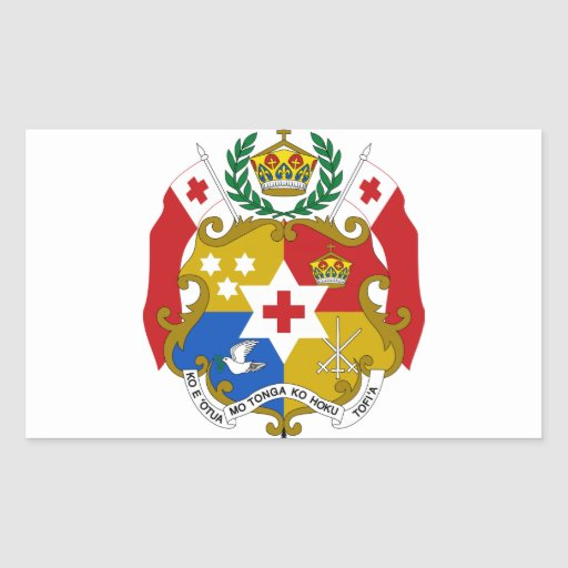 Tonga Coat of Arms Rectangular Stickers