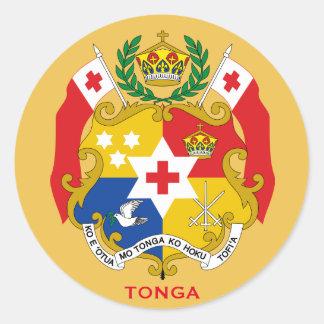 Tonga Crest Round Sticker