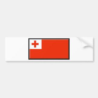Tonga Flag Car Bumper Sticker