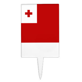 Tonga Flag Cake Topper