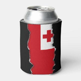 Tonga Flag Can Cooler
