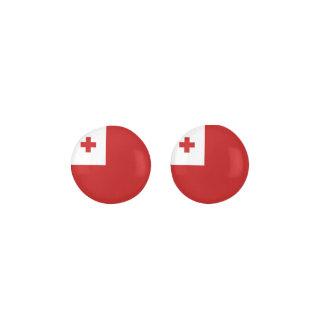 Tonga Flag Earrings