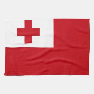 Tonga Flag Hand Towels