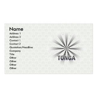Tonga Flag Map 2.0 Business Card Templates