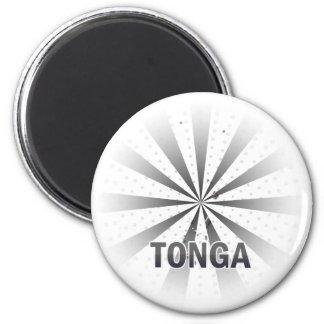 Tonga Flag Map 2.0 Magnet