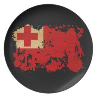 Tonga Flag Melamine Plate