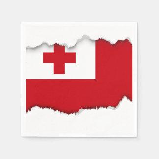 Tonga Flag Napkin