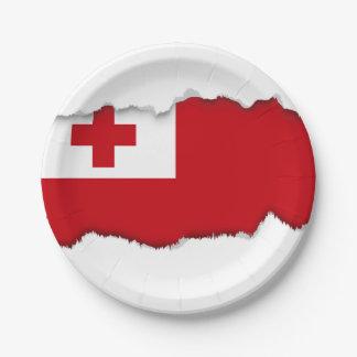 Tonga Flag Paper Plate