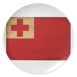 Tonga Flag Plate