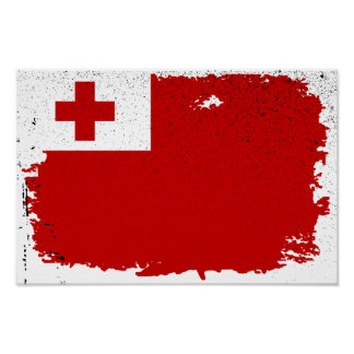 TONGA FLAG POSTER