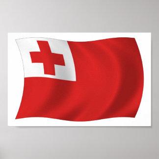 Tonga Flag Poster Print