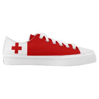 Tonga Flag Tongan Low-Top Sneakers