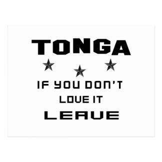 Tonga If you don't love it, Leave Postcard