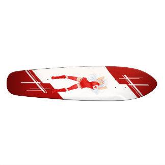 Tonga Manga girl dressed in Flag Skateboard