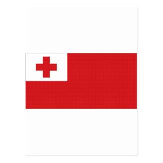 Tonga National Flag Postcard
