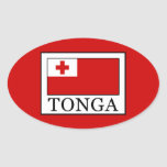 Tonga Pegatina Ovalada