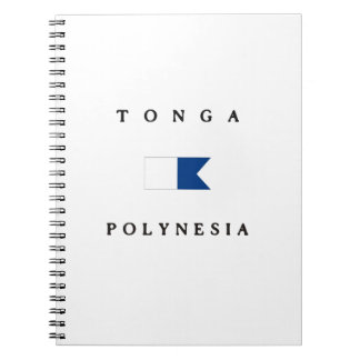 Tonga Polynesia Alpha Dive Flag Notebook