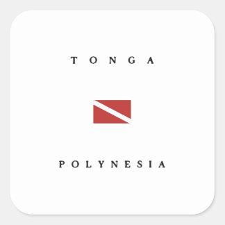 Tonga Polynesia Scuba Dive Flag Stickers