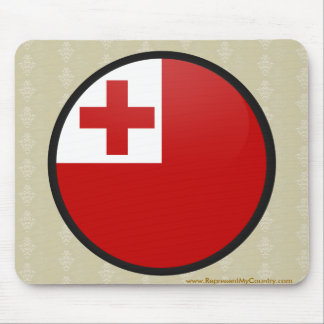 Tonga quality Flag Circle Mouse Pad