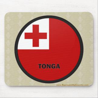 Tonga Roundel quality Flag Mouse Pad