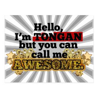 Tongan, but call me Awesome Postcard