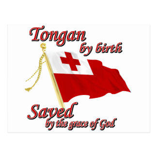 Tongan by birth saved by the grace of God Postcard