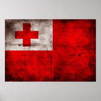 Tongan Flag Poster