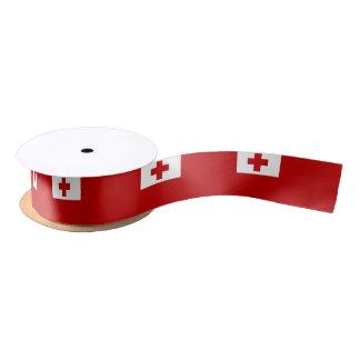 Tongan flag ribbon satin ribbon
