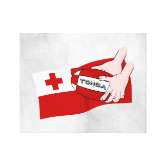 Tongan Flag Rugby Team Supporters Canvas Print