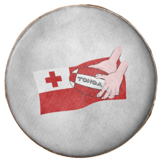 Tongan Flag Rugby Team Supporters Chocolate Dipped Oreo