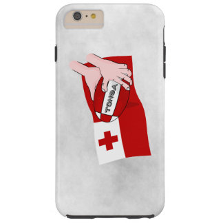 Tongan Flag Rugby Team Supporters Tough iPhone 6 Plus Case