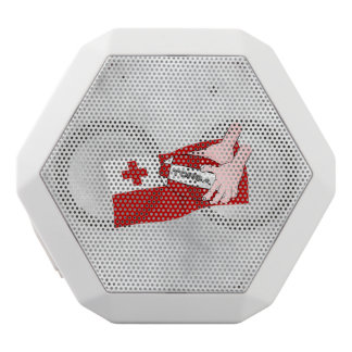 Tongan Flag Rugby Team Supporters White Bluetooth Speaker