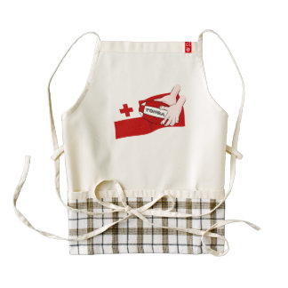 Tongan Flag Rugby Team Supporters Zazzle HEART Apron