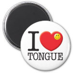 Tongue 2 Inch Round Magnet