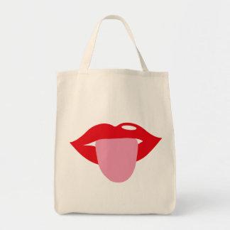 tongue bolsa tela para la compra