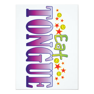 Tongue Eat 5.5x7.5 Paper Invitation Card