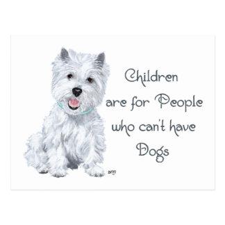 Tongue in Cheek Westie Wisdom - Children . . . Postcard