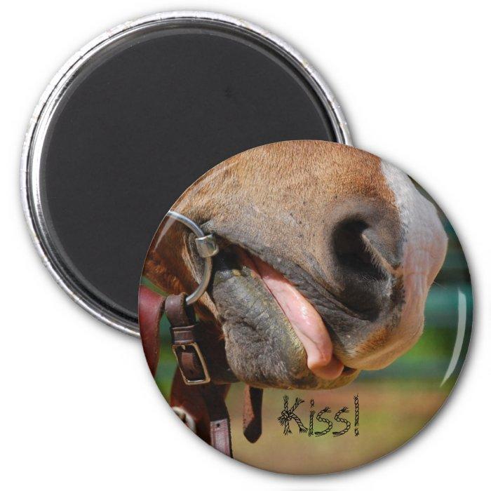 Tongue N Bit, Kiss! 2 Inch Round Magnet