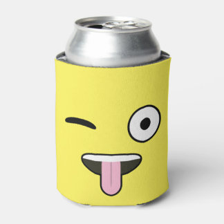 Tongue out Emoji Can Cooler