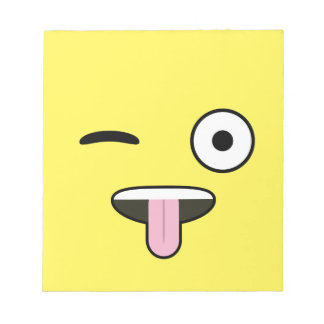 Tongue out Emoji Notepad