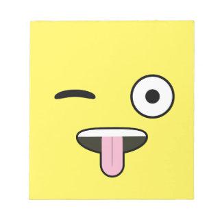 Tongue out Emoji Notepad