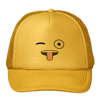 Tongue out Emoji Trucker Hat