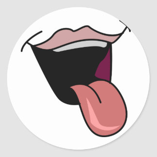 Tongue Out Stickers