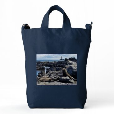 TONGUE POINT LEANING LIGHT HOUSE DUCK BAG
