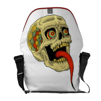 tongue skull courier bag