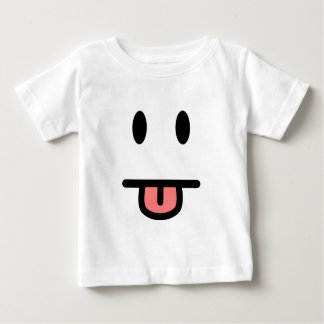 Tongue Sticking Out Face Baby T-Shirt