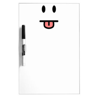 Tongue Sticking Out Face Dry-Erase Board