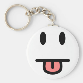 Tongue Sticking Out Face Keychain