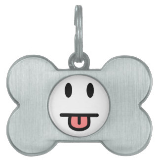 Tongue Sticking Out Face Pet Tag